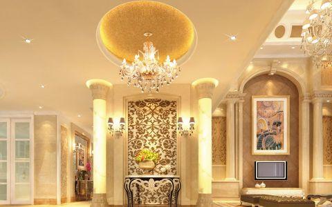 风格欧式背景墙室内效果图