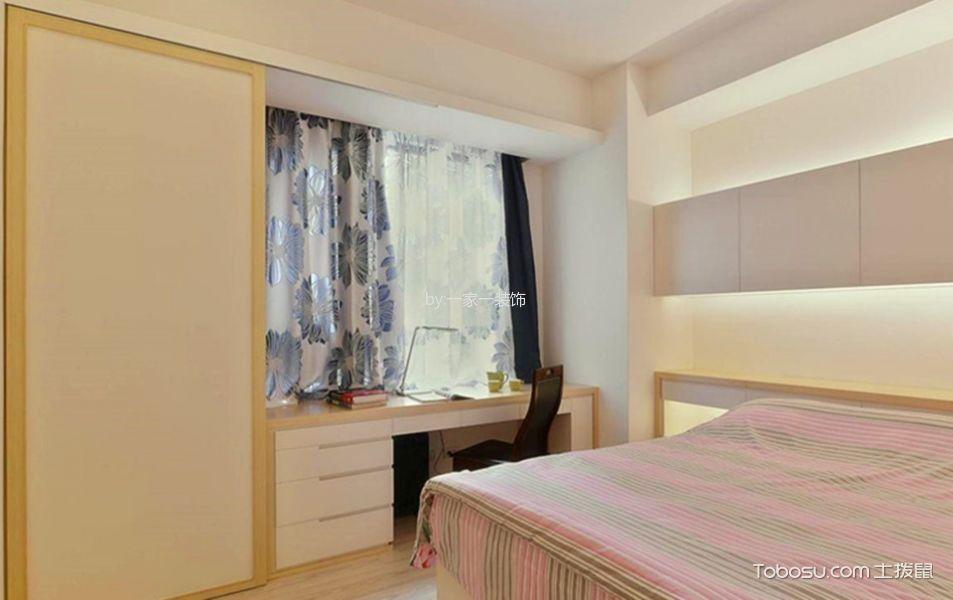 卧室白色书桌混搭风格装潢设计图片