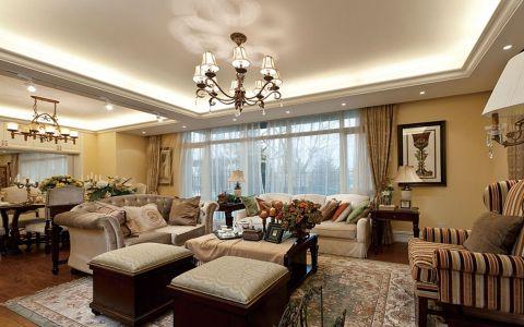 万科蓝山美式风格四居室装修效果图