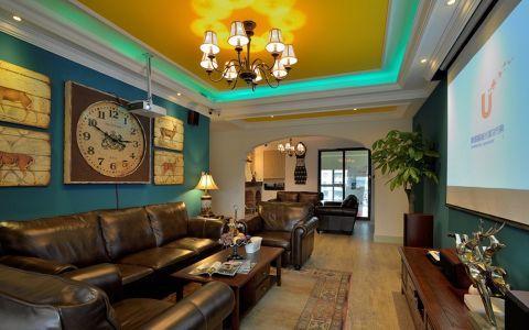 奥园金域美式混搭风格三居室装修图