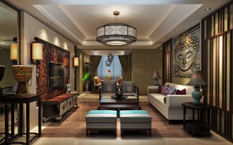 东南亚风格大户型装修设计