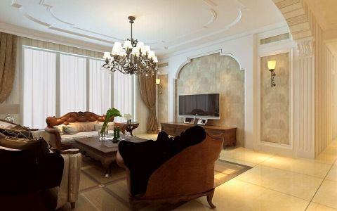 127平米美式三居室装修设计图