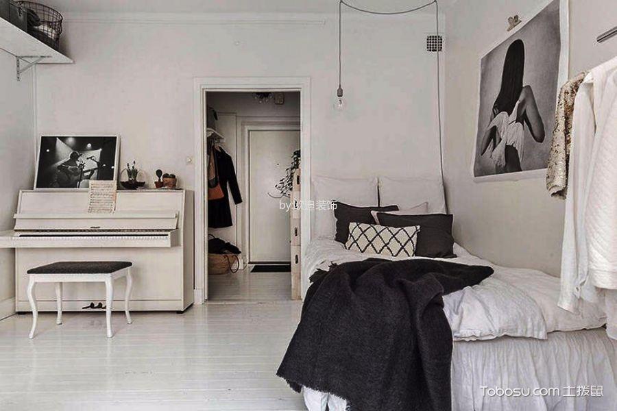 卧室白色床北欧风格装饰效果图