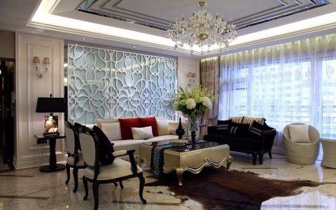 水晶郦城时尚混搭三居室效果图