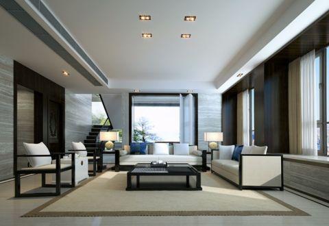 天健花园260平方复式楼中式风格设计效果图