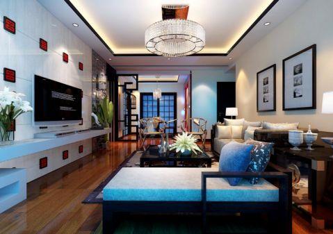 中式风格舒适三居室装修图