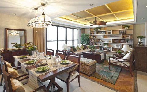 万科棠樾双城水岸东南亚风装修案例图