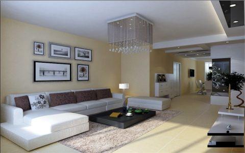 现代简约三居室设计图