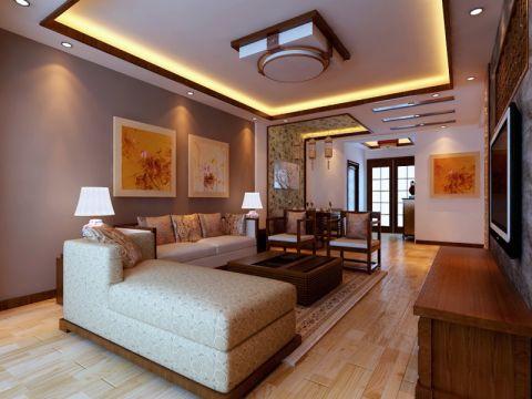 2020中式100平米图片 2020中式三居室装修设计图片