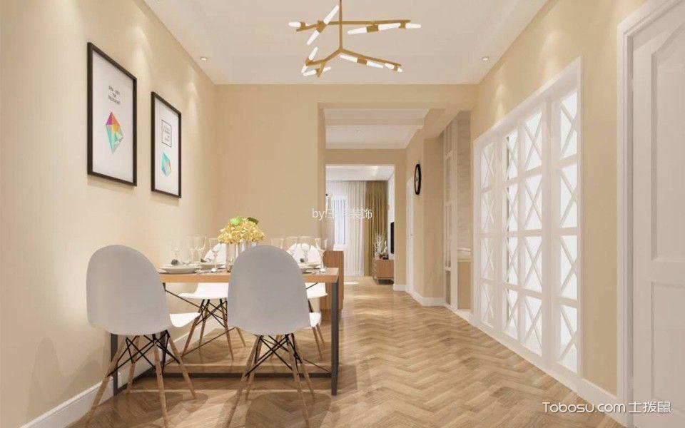 餐厅米色走廊北欧风格装潢设计图片