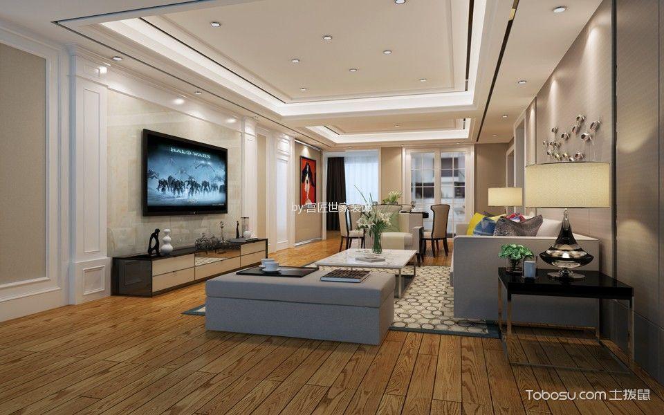 金科世界城139㎡三居室现代简约装修效果图