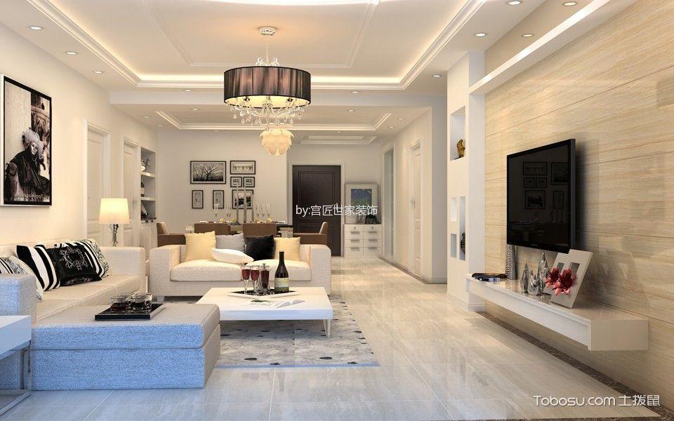仙河苑142平米现代简约白色系三居室