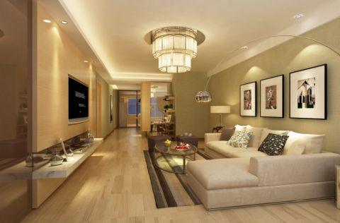 佳源巴黎都市114平简约风格三居室装修设计图