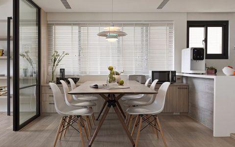 餐厅窗帘北欧风格装潢设计图片