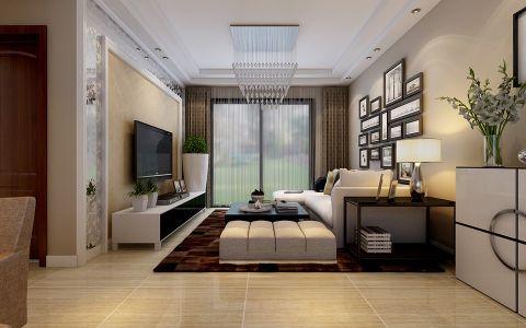 滨湖时代广场三居两厅简约时尚装修效果图