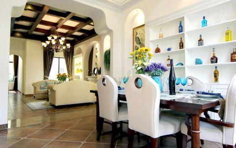 餐厅博古架田园风格装潢设计图片