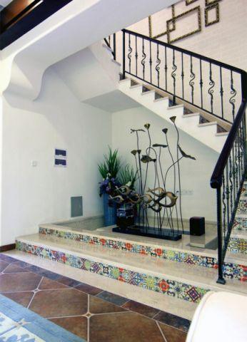 楼梯田园风格装潢效果图