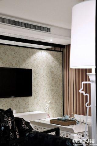 背景墙新中式风格装修设计图片