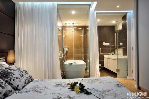 卧室隔断新中式风格装修效果图