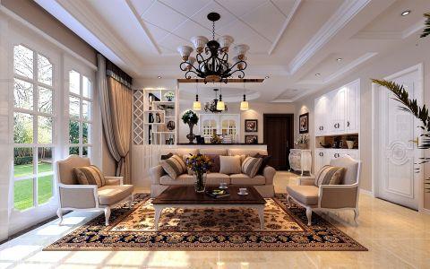 中铁和畅园三室两厅简约欧式风格装修图