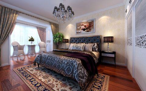卧室背景墙简欧风格装修图片