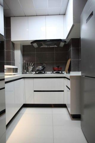 厨房简约风格装潢设计图片