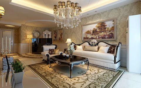 鼎元府邸两室一厅简欧风格装修效果图