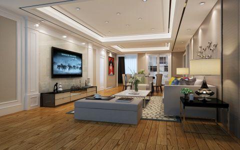 金科世界城139平米三居室现代简约装修效果图