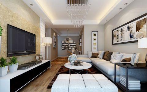 和昌·都汇华府两室一厅现代风格装修效果图