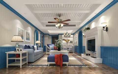 朗诗124平米温馨地中海风格三居室装修效果图