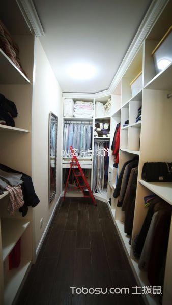 衣帽间白色衣柜美式风格装修图片