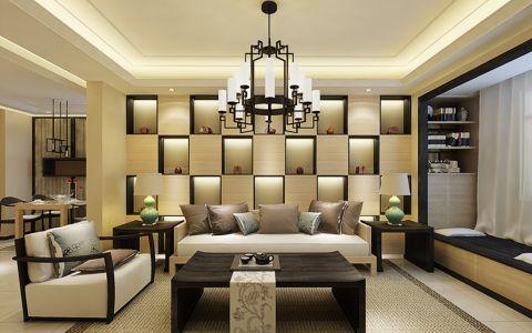 天目未来三室两厅新中式装修效果图