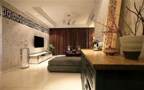二室一卫111平现代风混搭家居装修图