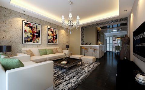 海棠花园现代简约三居室装修设计
