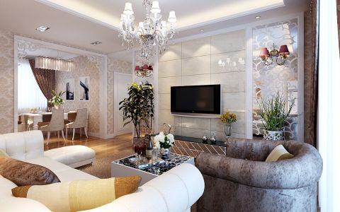 中铁德园三室两厅现代简约装修效果图