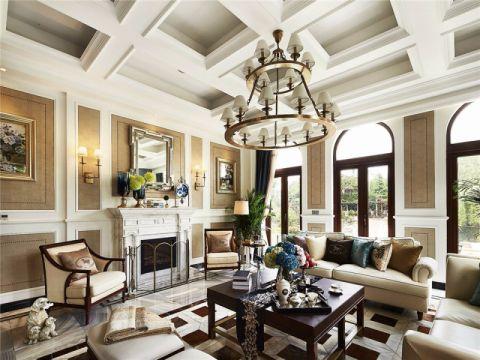 美式古典风格别墅装修效果图