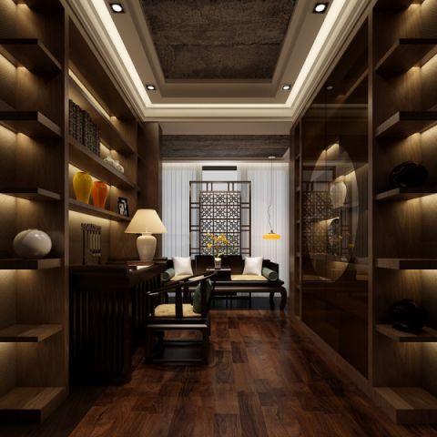 书房博古架现代中式风格装修设计图片