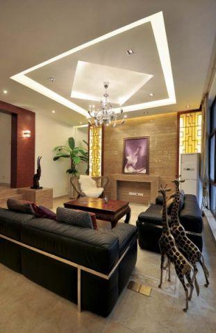 现代风格自建别墅装修效果图