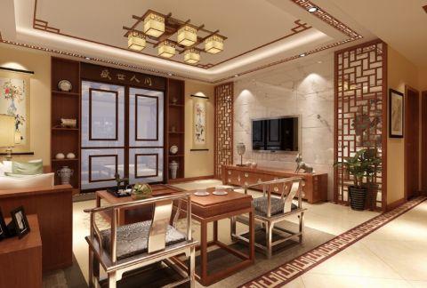 中式风格雅致大户型家居图