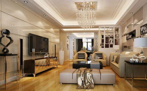 凤凰城三室两厅现代简约风格装修效果图