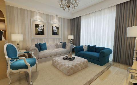 和平盛世两室一厅现代简约装修效果图