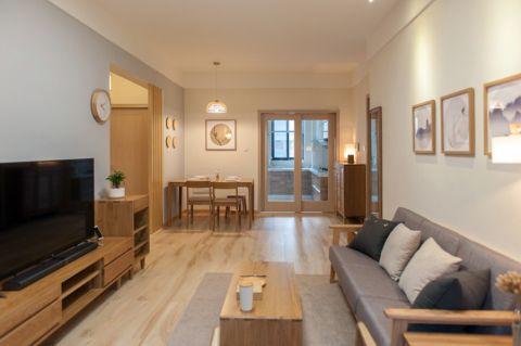 阳光100两居室简单风原木色装修效果图
