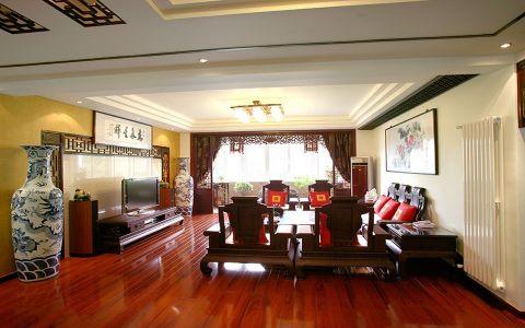 康博花园中式风格三居室装修图