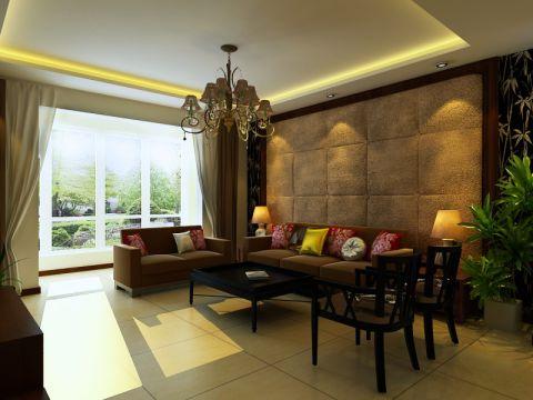中式混搭风格三居室装修图