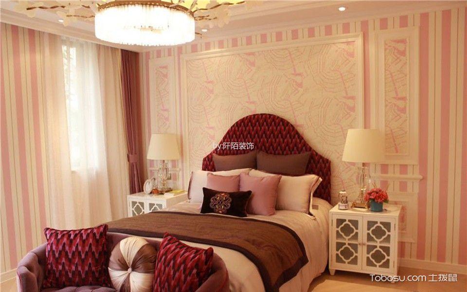儿童房粉色窗帘混搭风格装修效果图