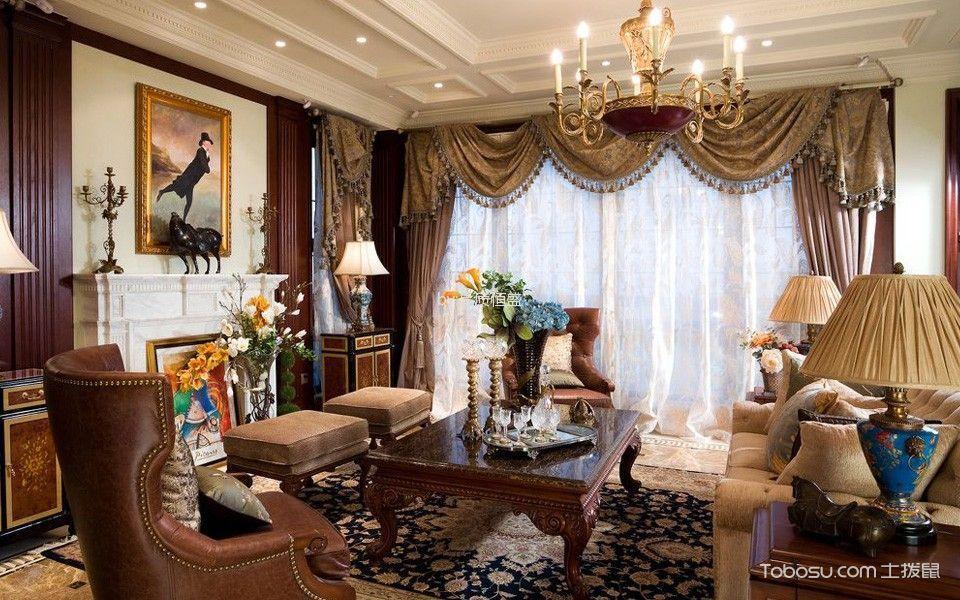 华润润西山别墅混搭美式风格装修案例