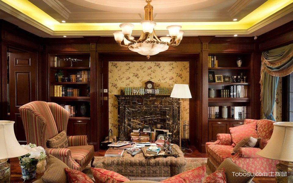 客厅黄色灯具混搭风格装潢效果图
