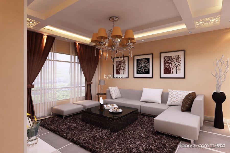 现代简约风两居室装修案例图