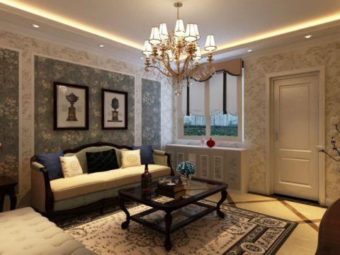 两室一厅简欧风格家庭装修图