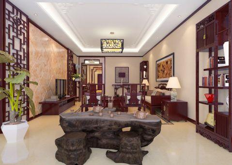 紫金苑中式风格三居室装修图
